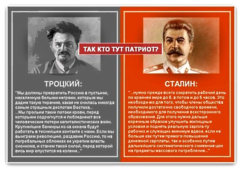 a comparison of the political systems of joseph stalin and leon trotsky in soviet russia Leon trotsky and stalin often misconceptions about soviet russia and the stalin considered the political and economic system under his rule.