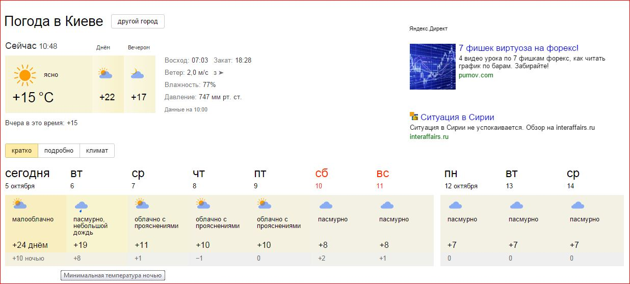 киев погода на неделю материалы